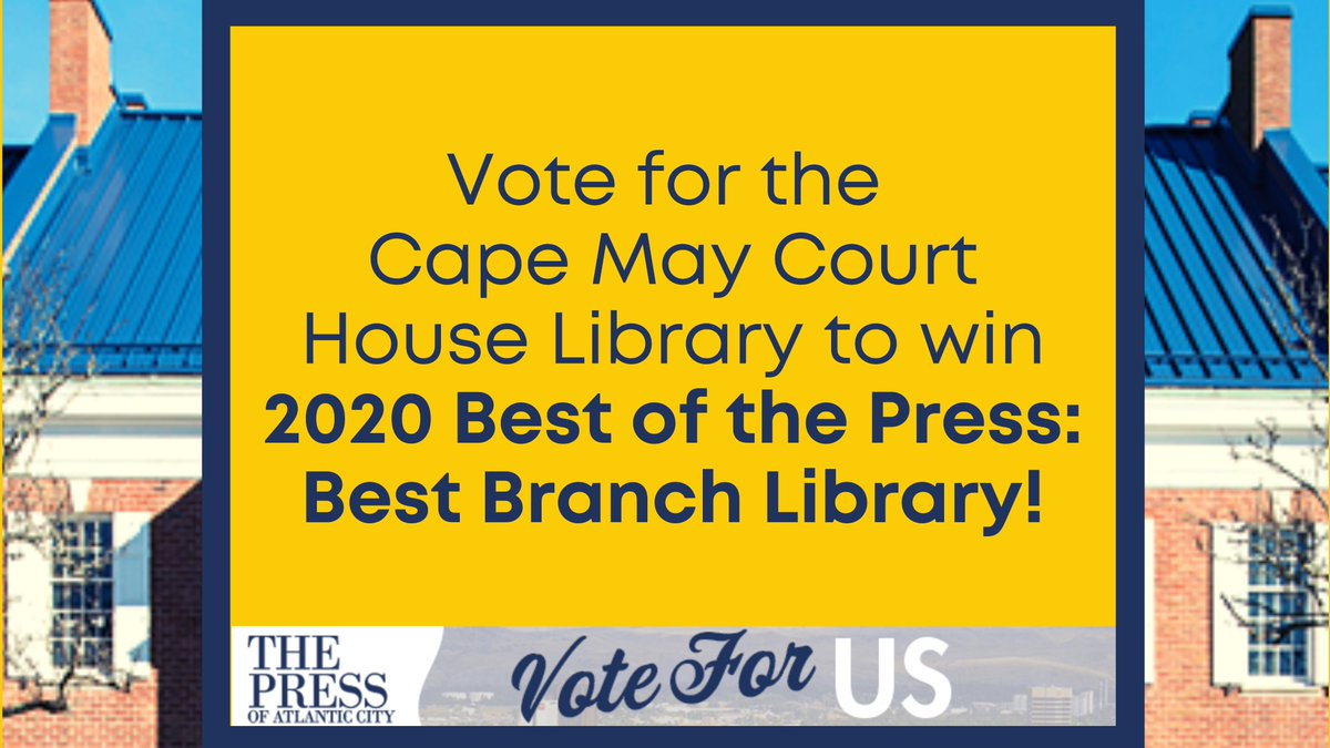 The Court House Library is a finalist for the Best of the Press 2020! You can help us win by casting your vote in the Best Branch Library category. Make sure to scroll down and enter your email address!