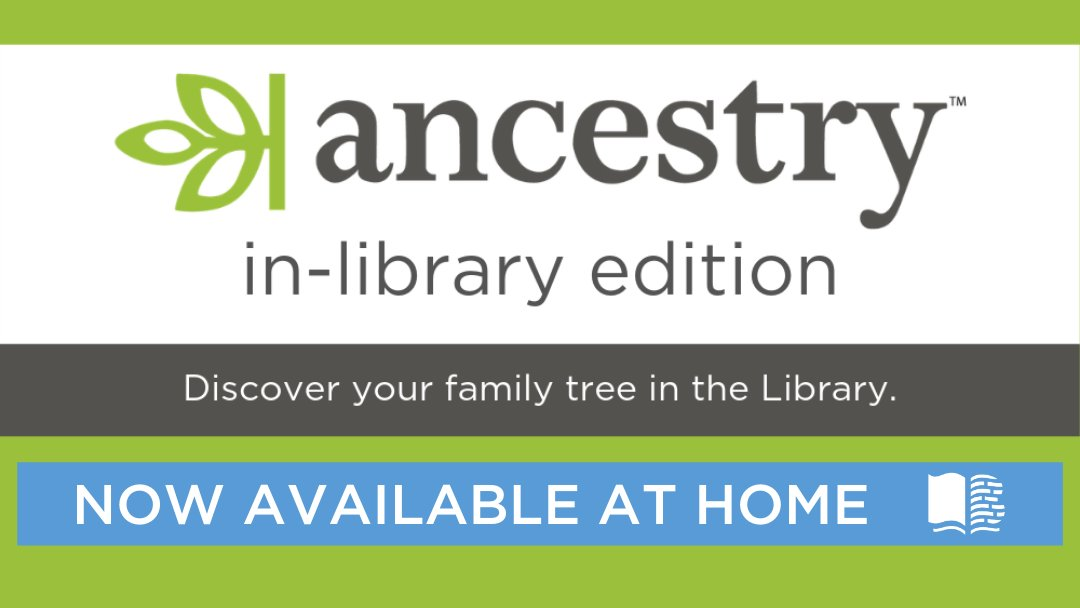 Get started on your family history research with  today!  has a variety of research aids and maps to get you started. Log in to the Library Edition from our website (Ask & Learn tab, then Research Databases).