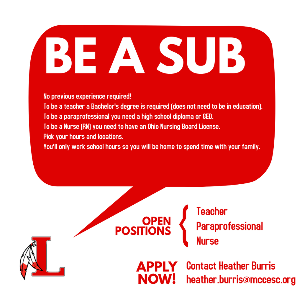 Be a sub! Please contact heather.burris@mccesc.org for more information. #londonpossible