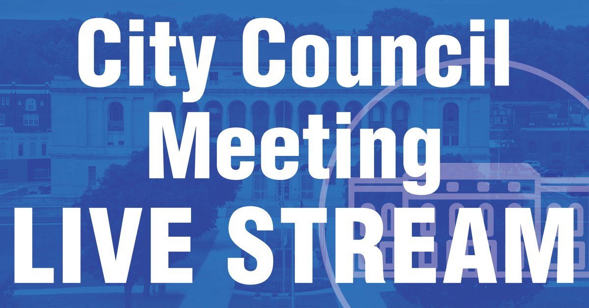 Due to technical issues, tonight's City Council meeting will not be available to view live on the city's website. However, the meeting may be viewed tonight on the city's Facebook page...