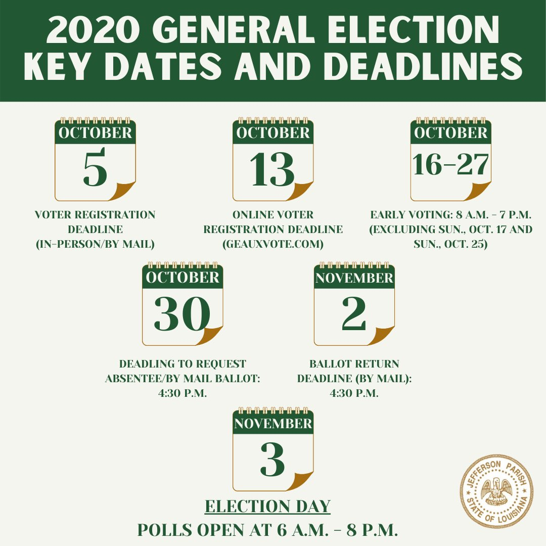 Did you know that this week is Voter Registration Week?   Mark your calendar with these important dates and deadlines for the General Election🗓   If you have not registered to vote, visit 🗳