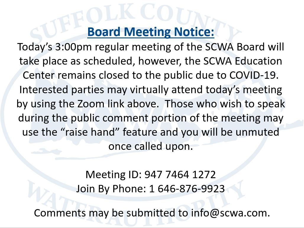 To join the Board Meeting, click the link below:  Please click this URL to join:   Or join by phone: 1 646-876-9923  Meeting ID: 947 7464 1272
