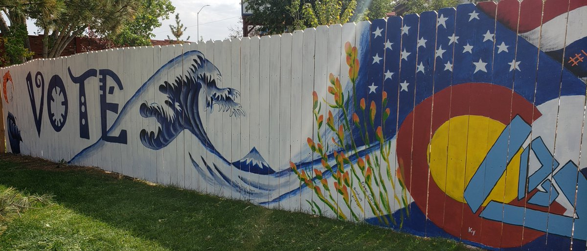 Broomfield registered 99 NEW voters on National Voter Registration Day, bringing the current active voters to 50,405. Find info on registering to vote and more at    Have you seen this mural on 287 and Miramonte made by mural artist, Left over cyan?