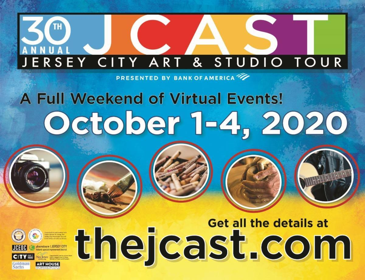 The #JerseyCity Art & Studio Tour is about to turn 30! Get ready for an impressive VIRTUAL lineup Oct 1 - 4, 2020. Sneak-peek 10/1,  7-9pm Preview a variety of 2-3 minute highlights of artists & organizations! Learn more here:   @JCArtCulture #JCAST