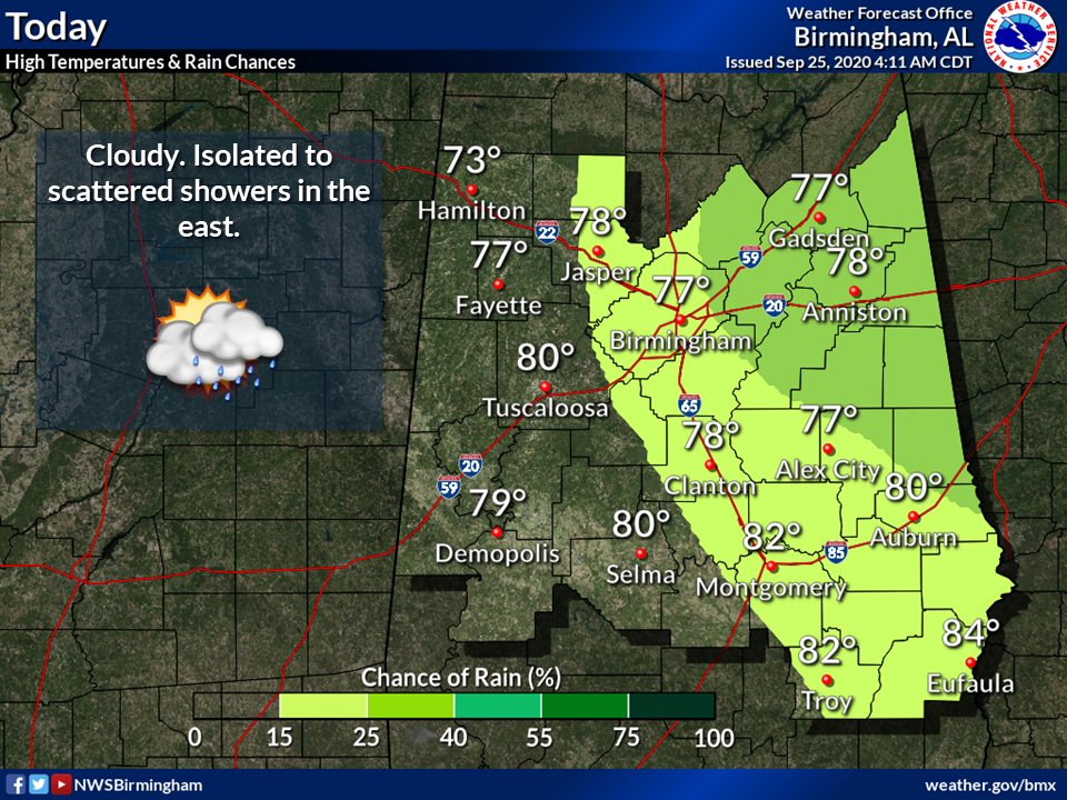 Cloudy with lingering showers east and central. highs will range from the low 70s far northwest to the mid 80s far southeast. Cloudy with patchy fog tonight. Lows in the low to mid 60s. Partly cloudy Saturday with highs in the low to mid 80s.