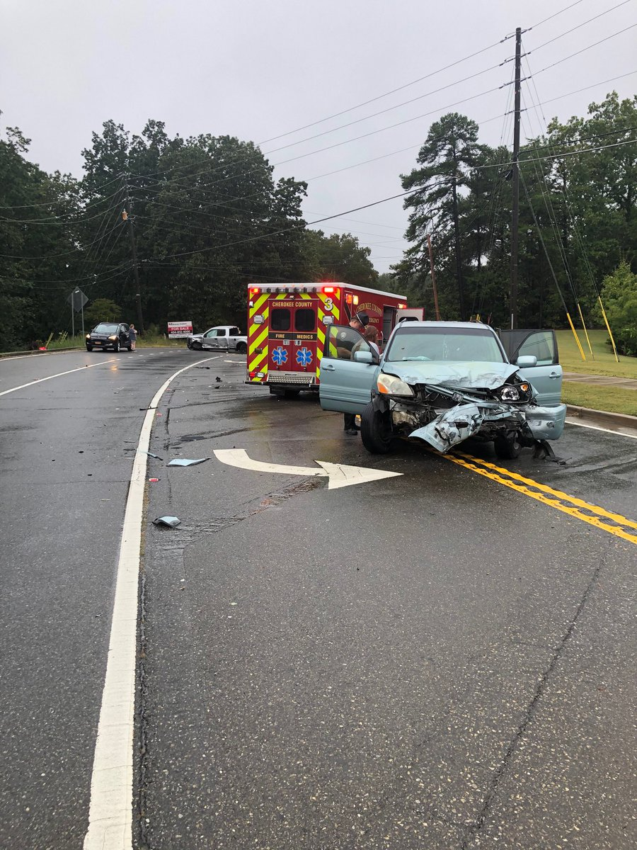 Accident on Hickory Flat Highway 1 mile east of I-575 near Prime Grill (the old Winchester's) traffic is heavily impacted. Avoid the area if possible.