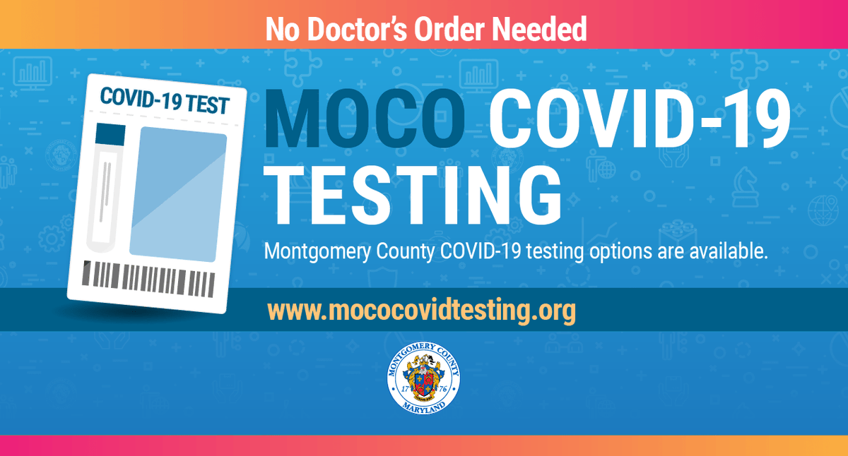🧪 @MoCoDHHS will provide COVID-19 testing around the County next week. Take a look at the schedule: .