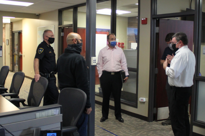 This morning we had a visit from several staff members from the Village of @carol_stream to learn more about how our Emergency Operations Center works. Great benefit to meeting and planning with our partners before an emergency of crisis strikes to increase joint capabilities.