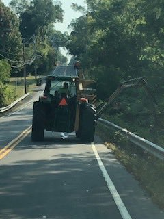 Aurora District has a mower out on Rice Rd in Town of Elma. Watch for this slow moving equipment