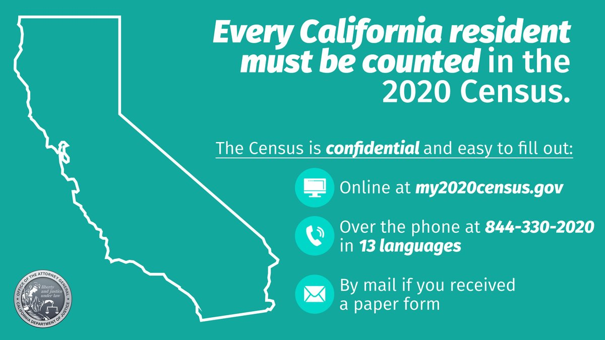 Time is running out to fill out the #2020Census! The census determines critical funding for programs like our roads, schools, and first responders. We all must #BeCounted. If you haven't filled it out yet, it's time to get to it and make your voice heard.