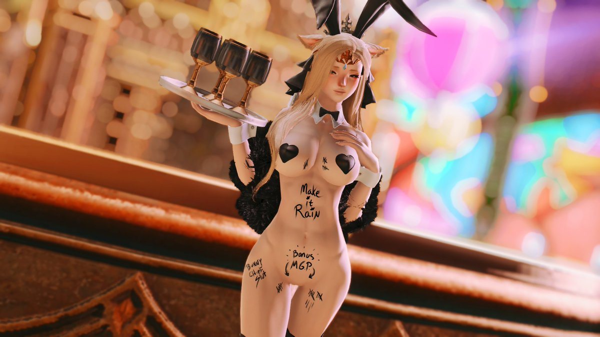 The Make It Rain Campaign has begun! One of the Bunnies has been quite popular...  #nsfw #ffxivnsfw #ffxivlewd