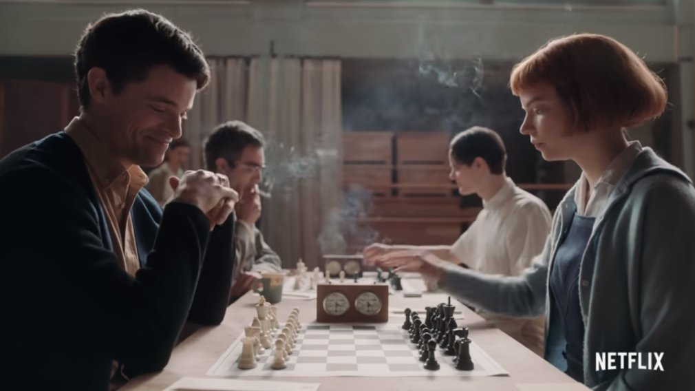 test Twitter Media - The Queen's Gambit, a 7-episode series on the rise of a female Bobby Fischer, is now out on Netflix!   https://t.co/Y53fuj5RjG   #c24live https://t.co/rhjlIMnCJ8