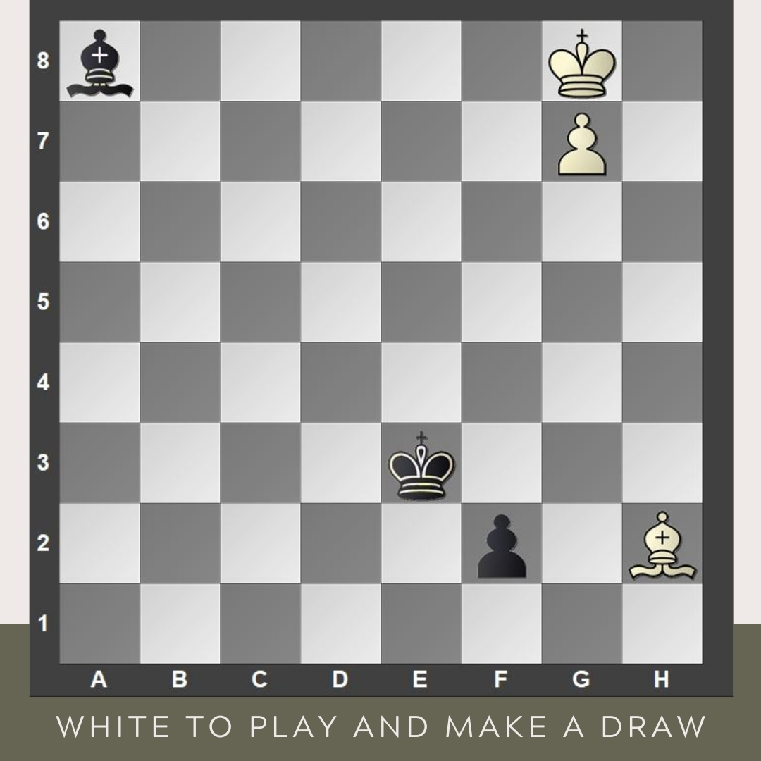 test Twitter Media - This is the end of the study composed by the famous French/Catalan composer Henri Rinck (1870-1952).   White to move and make a draw. It seems impossible because the black pawn is surely queening, but there is a twist to it.   #FridayStudy #YourMove #chess #chessmoves #study https://t.co/cuYDJ07ZUD