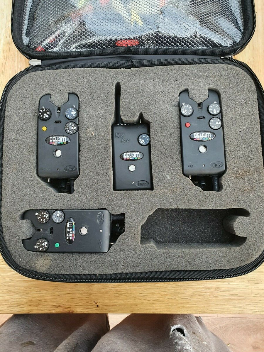 Ad - 3x Delkim TXi Plus bite alarms with RX Pro Receiver On eBay here -->> https://t.co/aaoHNI