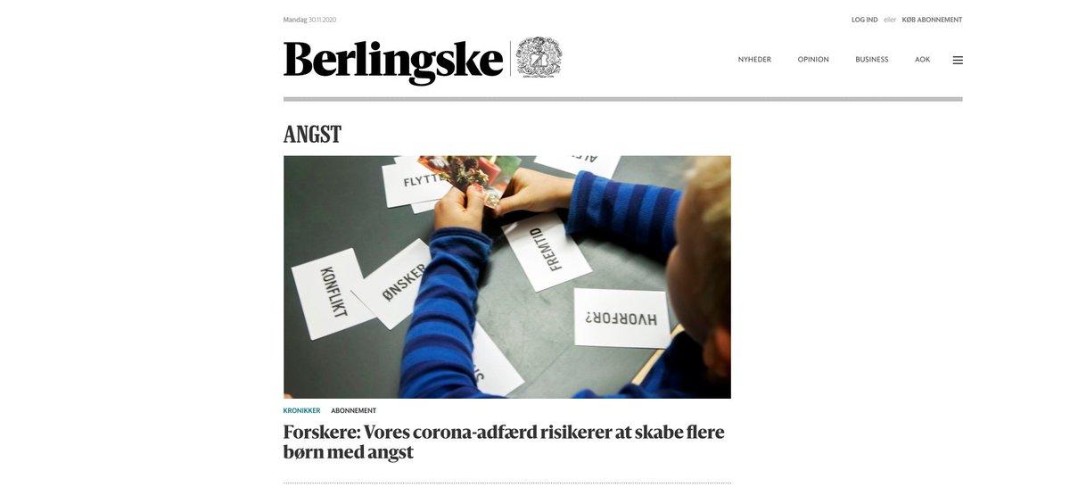 test Twitter Media - Vores corona-adfærd risikere at skabe flere børn med angst. Kronik i @berlingske sammen med @ce_parsons and Silke Stjerneklar. Vi håber, I læser med derude @SSTSundhed @Heunicke. #skolechat #bhvchat #dkpol #dkudd   https://t.co/VKBkzaTzZ6 https://t.co/PozgB6F10v