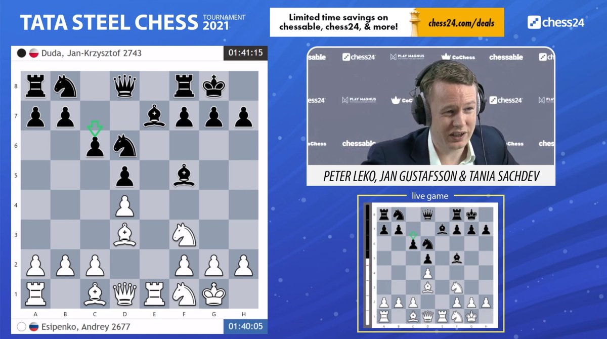 test Twitter Media - The 2021 edition of #TataSteelChess has begun, but so far a technical glitz in Wijk means we don't have moves from most of the games: https://t.co/3kE4GoDNKb  #c24live https://t.co/s2fTQ3dilB