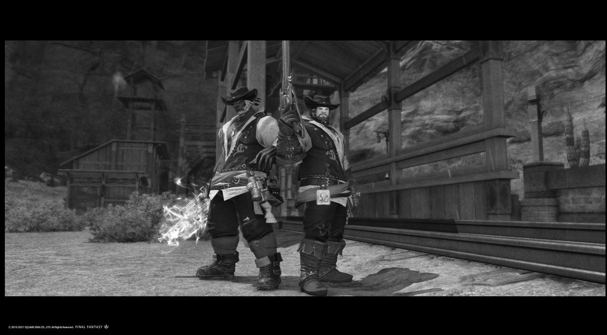 test ツイッターメディア - 今週分のファッションチェック、普通に良い感じだったので二人で撮影でござる。 荒野のガンマン!🔫🤠  #ルガディン #Roegadyn https://t.co/TFNY4q7B07