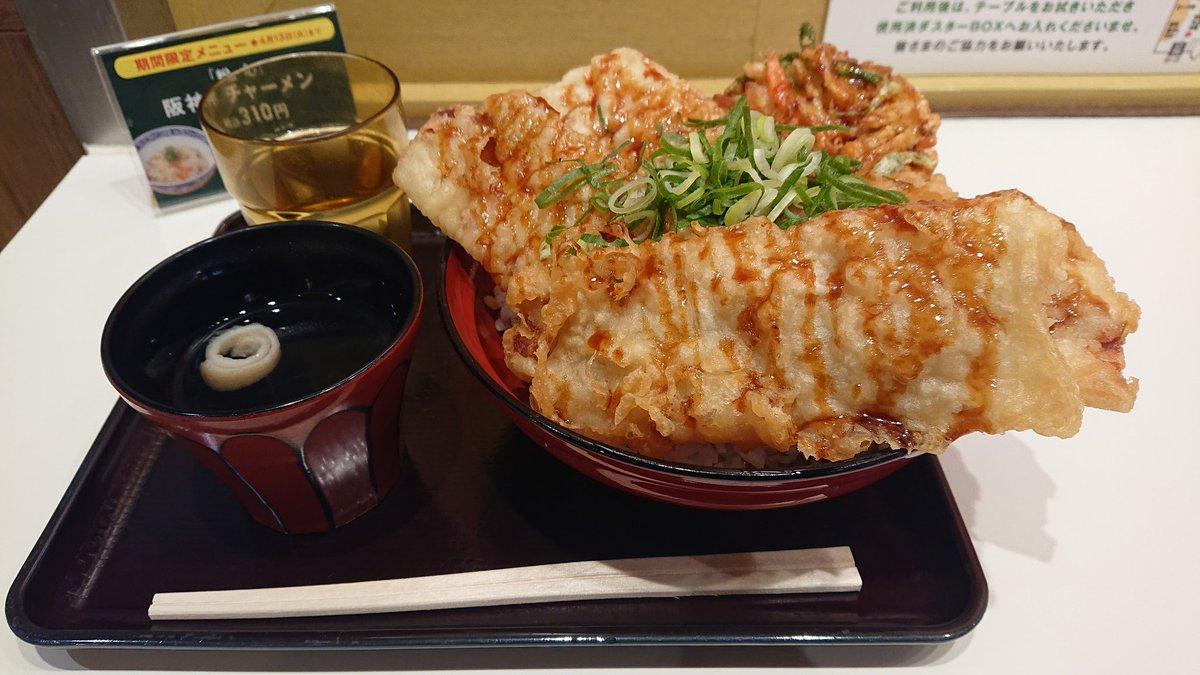 test ツイッターメディア - 最近、仕事のストレスが溜まりまくり。 今日は天王寺動物園へ行って、大好きな動物達に会えてめっちゃ癒された! スナックパークの『天ぷらの山』さんへ♪ 『かき揚げ豚天丼(ご飯特大)・550円』、美味しかったー! 明日からまた頑張る!  #阪神百貨店 #スナックパーク  #天ぷらの山 https://t.co/BNKn9P0SLj