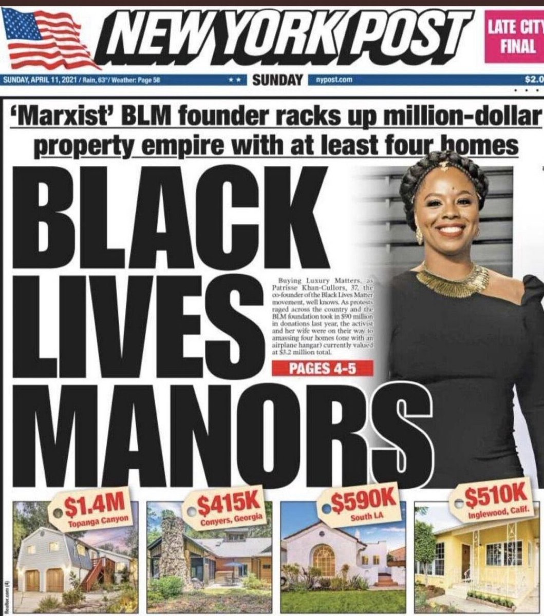 Race has become a very profitable business. The Marxist rhetoric seems to be merely a cover for greed and selfishness @nypost