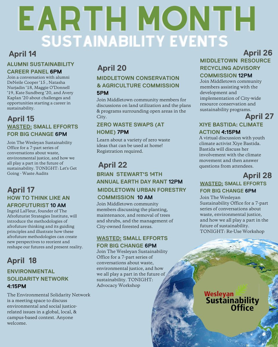 test Twitter Media - Join us in celebrating Earth Month! Check out the official Earth Month calendar to see the amazing events that have been planned throughout the month of April. Find a more details, Zoom links, and registration links here (dates and times subject to change) https://t.co/WePMrz51zV https://t.co/uWe42agR1L