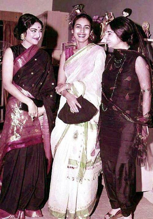 Vyjayanthimala, Nutan & Geeta Bali https://t.co/ba28cW15Ea