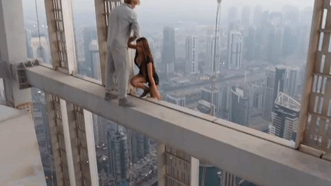 You have to pay for your obtrusive adventures. #Dubai police summon Russian model for dangling from #CayanTower