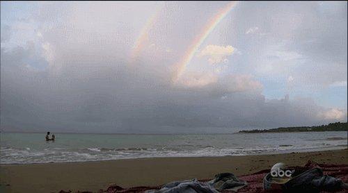 Retweet if you believe Lauren and Ben's love created this double rainbow https://t.co/R4qaguw7aS