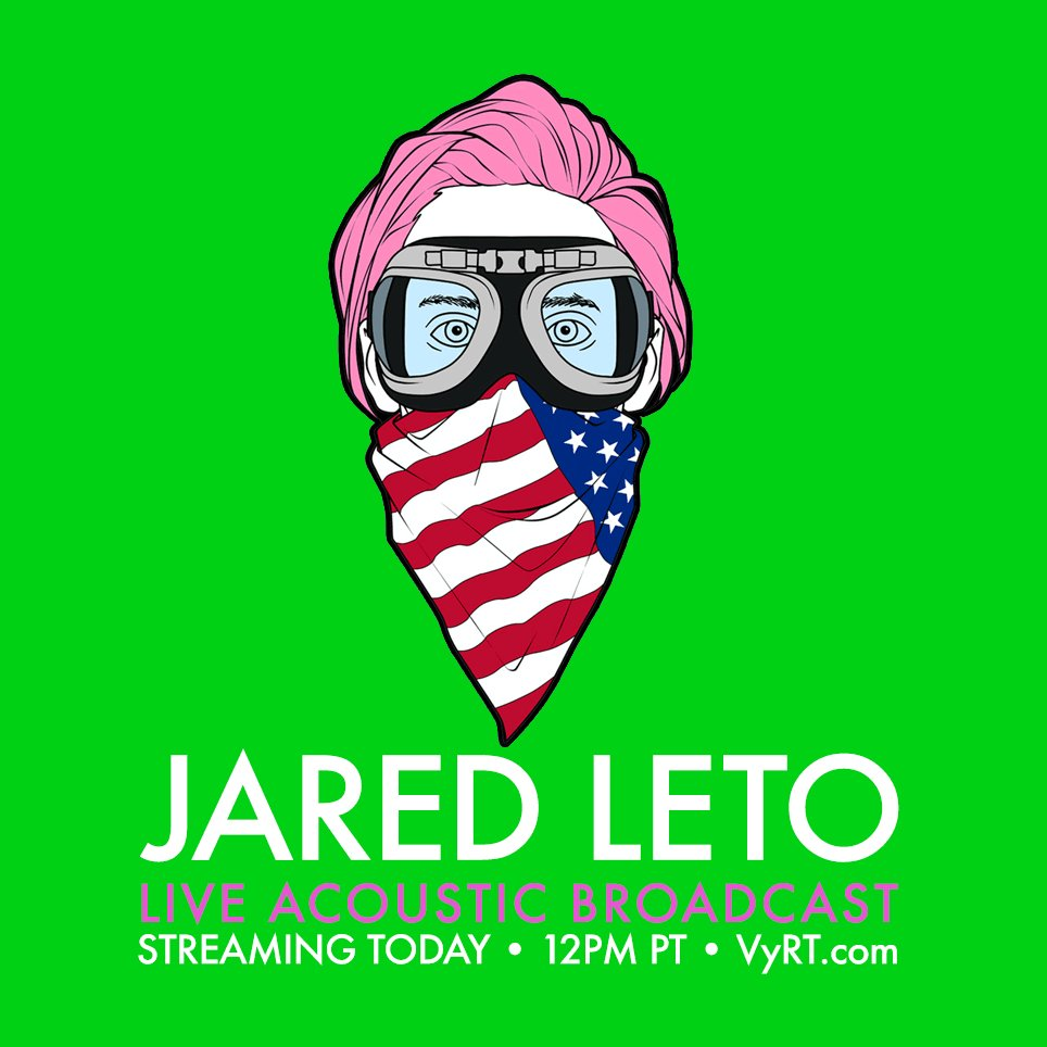 RT @30SECONDSTOMARS: YOUR favorite MARS Songs, Giveaways, Special Guests + MORE. Join @JaredLeto 12PM PT TODAY: https://t.co/LltEUV06LR htt…