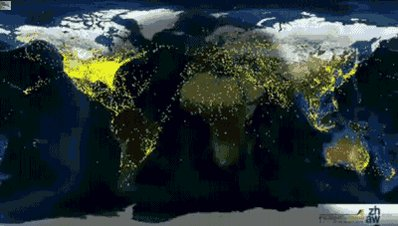 Whoa! Visualization of 24 hours of global air traffic – in just 4 seconds. via @wef https://t.co/KtYfLpTe3J