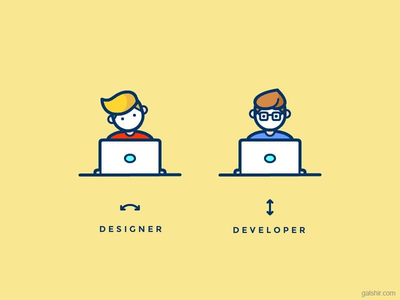 Designer vs. Developer by Gal Shir https://t.co/kOCBfBdd1g