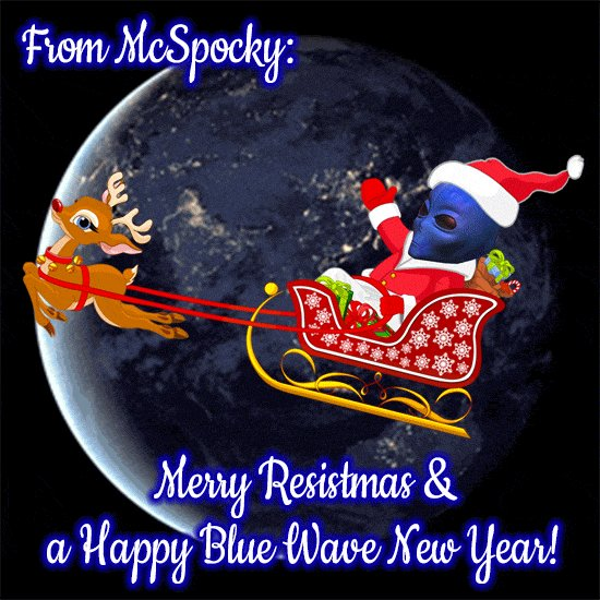 RT @mcspocky: Merry Resistmas & a Happy Blue Wave New Year https://t.co/1KZ1pLoPlI