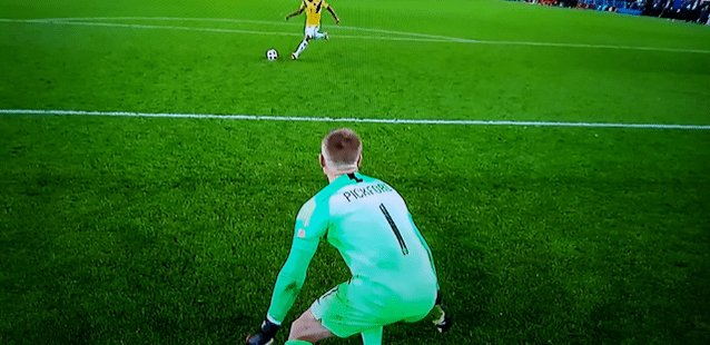 The airtime on this save. 👏🏾 This won't get old @JPickford1  https://t.co/4f8SrtgPt3 #CROENG #Worldcup