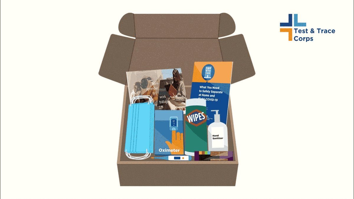 """A """"Take Care"""" package from the #NYCTestandTrace Corps will be provided to NYers quarantining at home so they can safely separate from their loved ones. The helpful resources booklet in the package will be translated into 13 different languages. More:"""